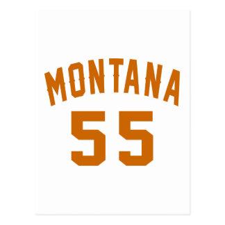 Cartão Postal Montana 55 designs do aniversário