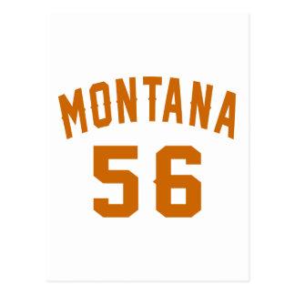 Cartão Postal Montana 56 designs do aniversário