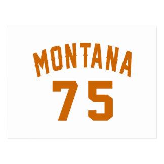 Cartão Postal Montana 75 designs do aniversário