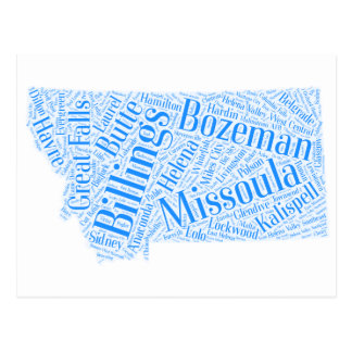 Cartão Postal Montana-azul