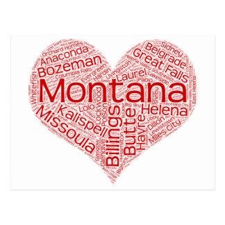 Cartão Postal Montana-coração