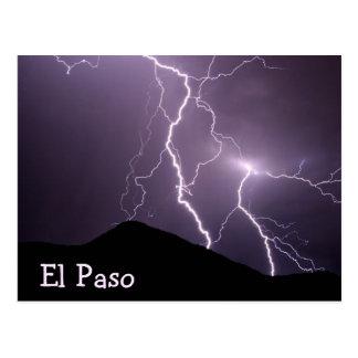 Cartão Postal Montanha da iluminação