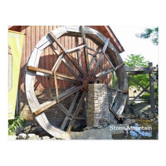 Cartão Postal Montanha da pedra do moinho de água, Geórgia
