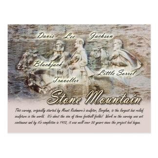 Cartão Postal Montanha de pedra que cinzela, Geórgia