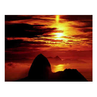 Cartão Postal Montanha de Sugarloaf, Rio de Janeiro, Brasil