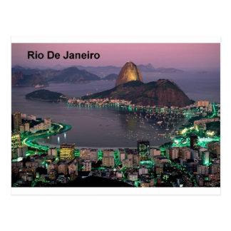 Cartão Postal Montanha do naco de açúcar de Brasil Rio de