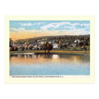 Cartão Postal Montanha do vale Rd, Montclair, vintage de NJ
