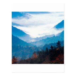 Cartão Postal Montanha Gap Newfound grande Tennessee fumarento