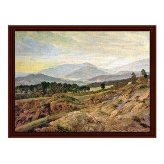 Cartão Postal Montanha gigante por Friedrich Caspar David