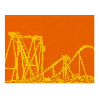 Cartão Postal Montanha russa