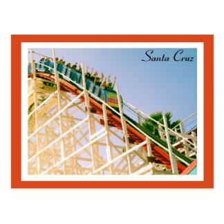 Cartão Postal Montanha russa de Santa Cruz