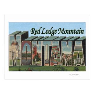 Cartão Postal Montanha vermelha do alojamento, Montana