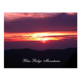 Cartão Postal montanhas de cume azul