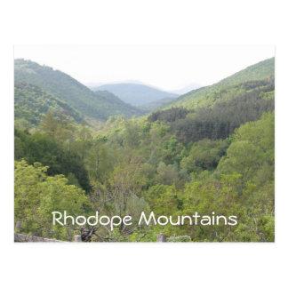 Cartão Postal Montanhas de Rhodope