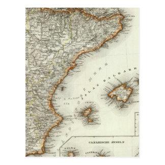 Cartão Postal Montanhas e rios das Ilhas Canárias