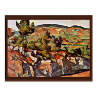 Cartão Postal Montanhas em Provence por Paul Cézanne