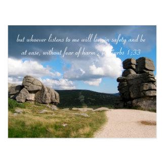 Cartão Postal Montanhas inspiradas da foto das citações |