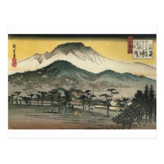 Cartão Postal Montanhas japonesas cerca de 1800's