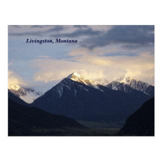 Cartão Postal montanhas, Livingston, Montana