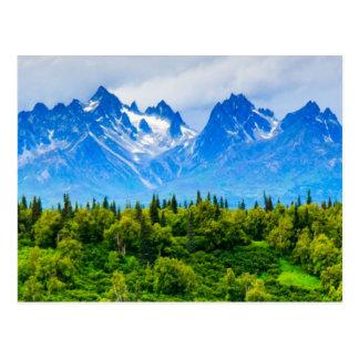 Cartão Postal Montanhas majestosas de Alaska