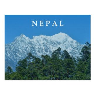 Cartão Postal Montanhas nevado de Nepal