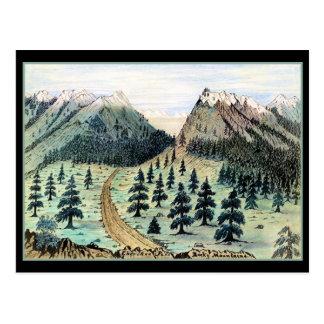 Cartão Postal Montanhas rochosas da passagem Cherokee