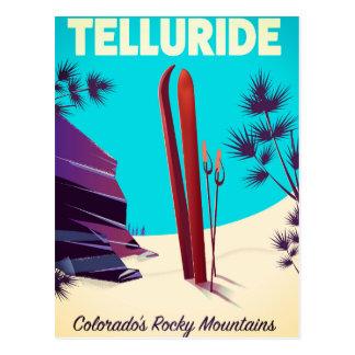 Cartão Postal Montanhas rochosas do esqui do Telluride