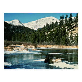 Cartão Postal Montanhas rochosas, parque nacional