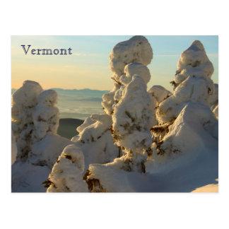 Cartão Postal Montanhas verdes Vermont no inverno
