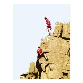 Cartão Postal montanhista de rocha