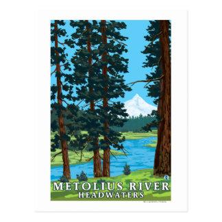 Cartão Postal Montante do rio de Metolius, Oregon