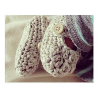 Cartão Postal Montantes do Crochet do bebê