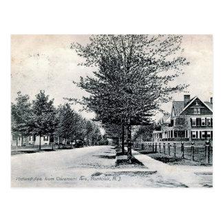 Cartão Postal Montclair, vintage da opinião da avenida de