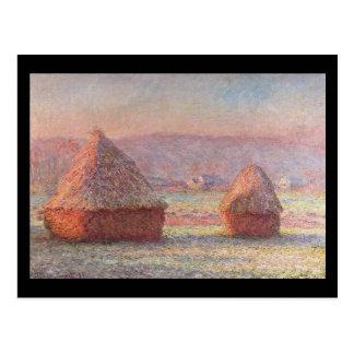 Cartão Postal Monte de feno Monet