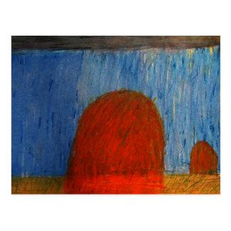 Cartão Postal Monte de feno na chuva