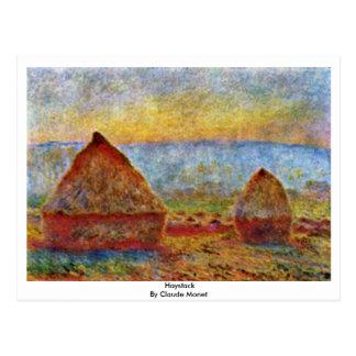 Cartão Postal Monte de feno por Claude Monet