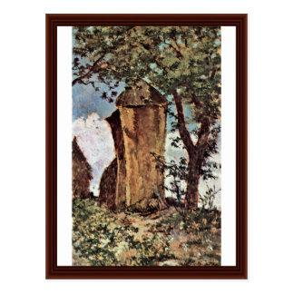 Cartão Postal Monte de feno por Fattori Giovanni