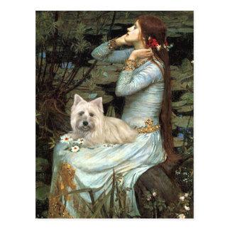 Cartão Postal Monte de pedras Terrier 4 - Ophelia assentada