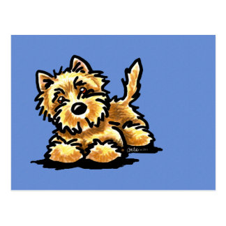 Cartão Postal Monte de pedras Terrier Wheaten