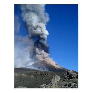 Cartão Postal Monte Etna - erupção vulcânica