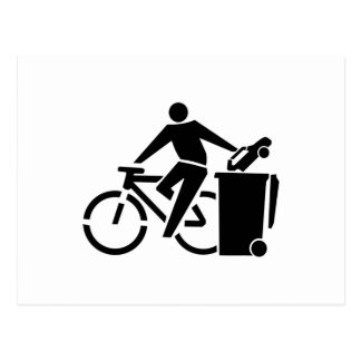 Cartão Postal Monte uma bicicleta não um carro