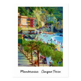 Cartão Postal Monterosso, Cinque Terre, Italia