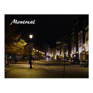 Cartão Postal Montreal em a noite