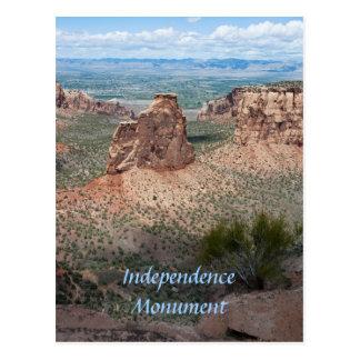 Cartão Postal Monumento da independência e o vale grande