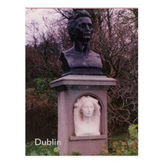 Cartão Postal Monumento de James Clarence Mangan, Dublin,