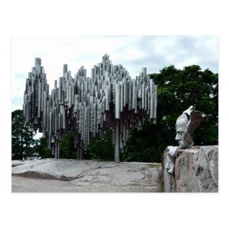 Cartão Postal Monumento de Sibelius, Helsínquia Finlandia
