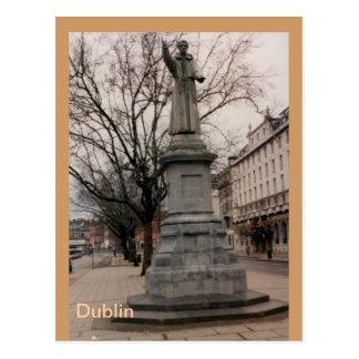 Cartão Postal Monumento de Theobold Mathew do quadro, Dublin,