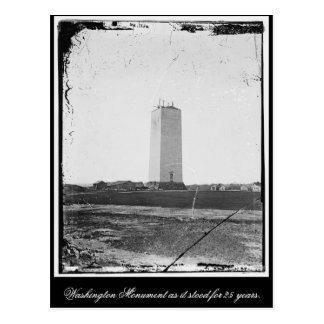 Cartão Postal Monumento de Washington como representou 25 anos