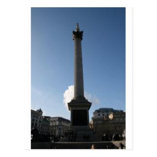 Cartão Postal Monumento do quadrado de Trafalgar