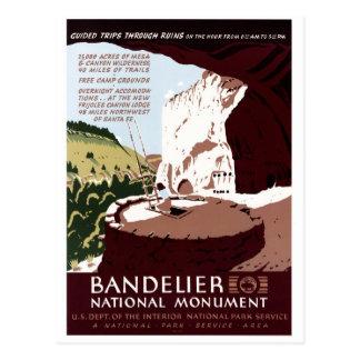 Cartão Postal Monumento nacional de Bandelier